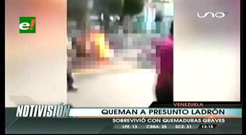 Impactante: En Venezuela quemaron vivo a un ladrón