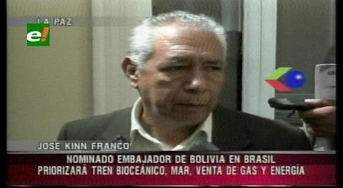 Embajador designado a Brasil prevé fortalecer las relaciones bilaterales