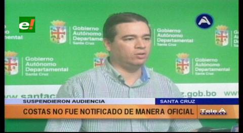 Rubén Costas no fue notificado por el supuesto uso indebido de una camioneta oficial