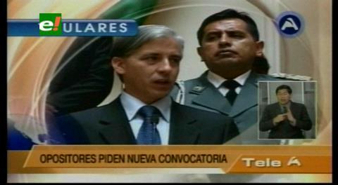 Titulares de TV: Oposición pide nueva convocatoria para la elección a Defensor del Pueblo