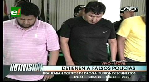 Caen seis falsos policías de la Felcn que volteaban droga