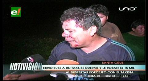 Un pasajero se duerme y  taxista le roba Bs 23 mil
