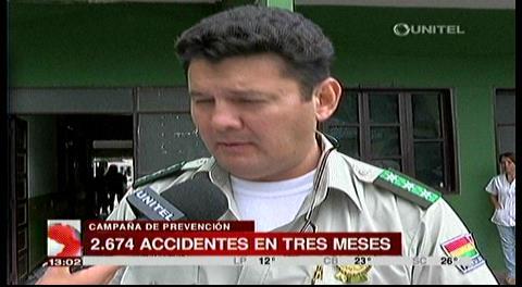Tránsito: 2.674 accidentes y 31 fallecidos en lo que va del año en Santa Cruz