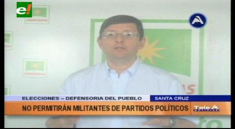 Defensor del Pueblo: UD no permitirá la postulación de militantes de partidos políticos