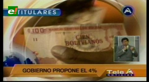 Titulares de TV: Empresarios piden al Gobierno no poner en riesgo al aparato productivo con un incremento salarial excesivo