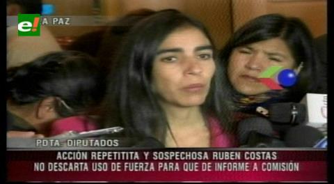 Montaño advierte con usar la fuerza pública si Rubén Costas no da su informe a la ALP
