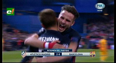 Liga de Campeónes: Atlético Madrid deja en el camino al Barcelona