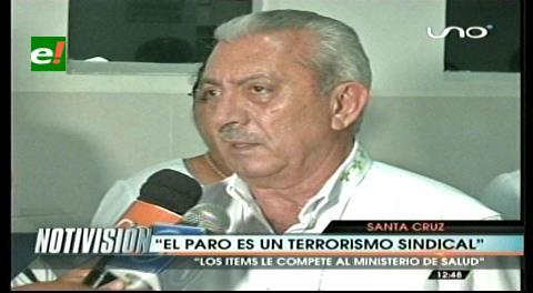 Gobernación cruceña califica de ilegal el paro en el Hospital San Juan de Dios