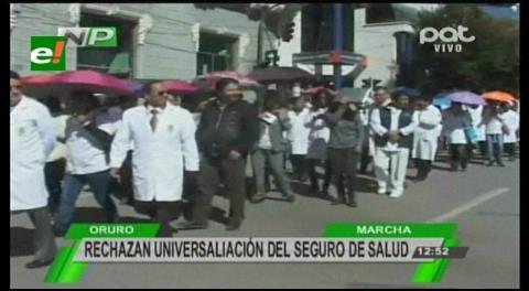 Oruro: Médicos marchan contra Ley 475 de servicios de salud integral