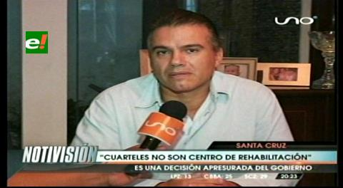 "Ex zar antidroga: ""Los cuarteles no son centros de rehabilitación"""