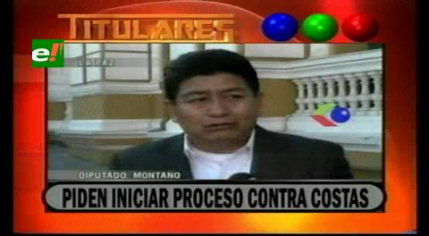 Titulares de TV: Diputado del MAS pide iniciar un proceso penal contra Rubén Costas por incumplimiento de deberes