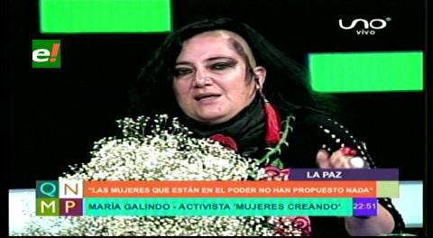 """Galindo: """"Las mujeres que están en el poder siguen una política machista"""""""