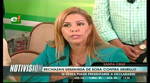 Santa Cruz. Fiscal rechaza denuncia de Sosa contra Murillo