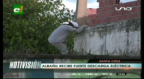 Albañil recibió una descarga eléctrica tras pisar un cable