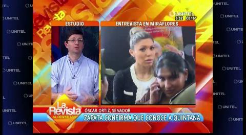 Senador Ortiz ve que Zapata busca resguardar la imagen del Presidente