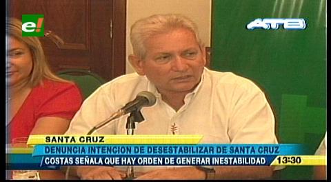 Gobernador Costas denuncia intención de desestabilizar su gestión