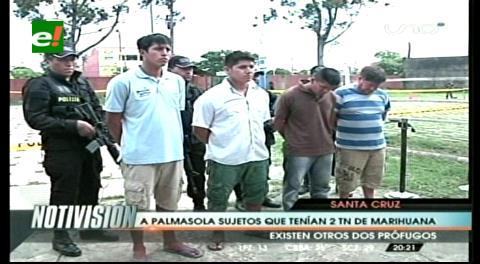Envían a Palmasola a 4 personas halladas con 2,2 toneladas marihuana