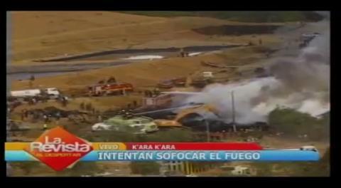 Cochabamba: Controlan incendio en el botadero K'ara K'ara