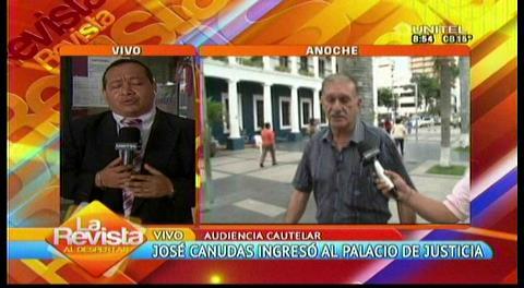 José Canudas frente a la jueza por el caso dron