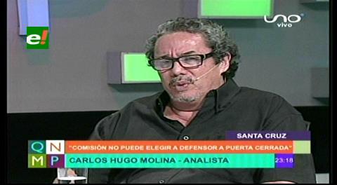 """Carlos Hugo Molina: """"La comisión no puede elegir un defensor del pueblo a puertas cerradas"""""""