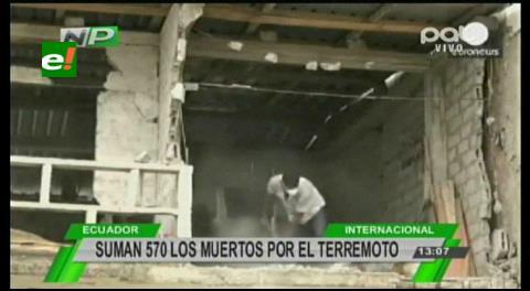 Aumenta a 577 los muertos en Ecuador por terremoto
