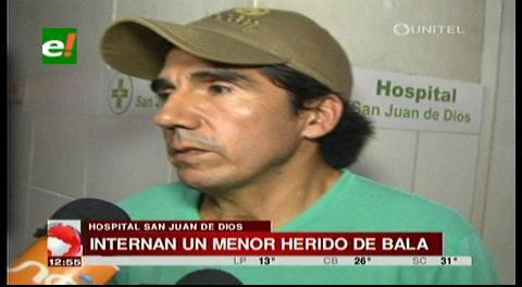 Internan en el San Juan de Dios a un menor con herida de bala