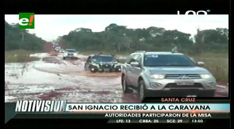 Caravana de integración llega desde el Brasil por el corredor bioceánico a Santa Cruz de la Sierra