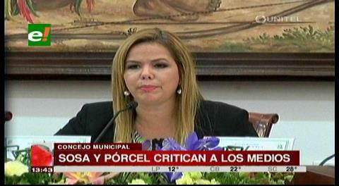 Concejales Sosa y Pórcel critican a medios de comunicación