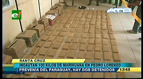 Decomisan una tonelada de marihuana en la ruta a Camiri