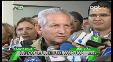 Suspenden audiencia de Rubén Costas que busca arraigarlo