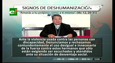 """La Iglesia Católica denuncia """"signos de deshumanización"""" con discapacitados"""