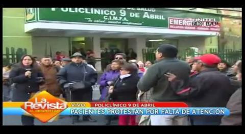 La Paz: Pacientes protestan por paro de actividades en la Caja de Salud