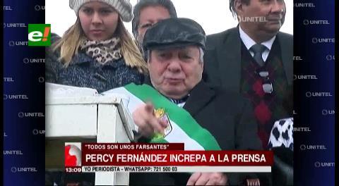 """Percy a los periodistas: """"Son unos farsantes"""""""