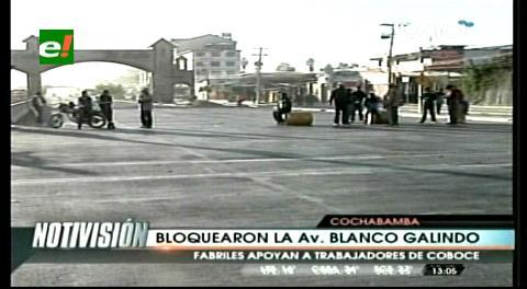 Cochabamba: Fabriles reanudan bloqueos en defensa de Coboce