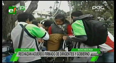 Sucre: Discapacitados no se rinden y suben el tono de las protestas