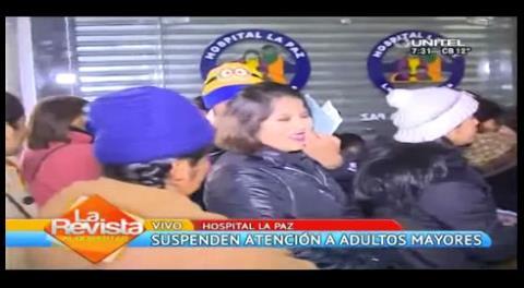 Suspenden atención médica a adultos mayores en el hospital La Paz