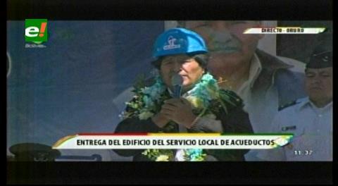 Evo inaugura edificio de SeLA en Oruro