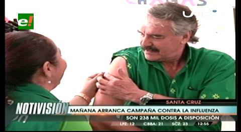 Campaña contra la influenza en Santa Cruz