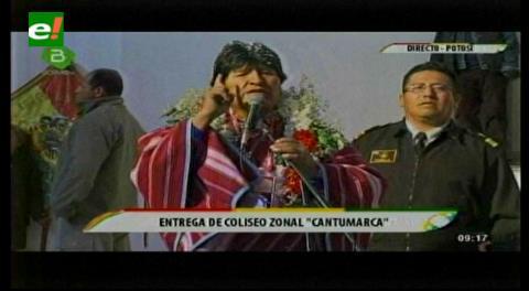"""Evo pide disculpas a Potosí y dice que no está resentido por la """"chicoteada"""" del 21 de febrero"""
