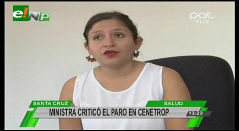 Ministra de Salud advierte con procesos a trabajadores de Cenetrop y el SINEC