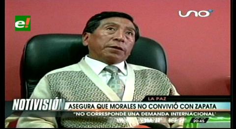 Abogado Velázquez asegura que el presidente Morales nunca convivió con Zapata