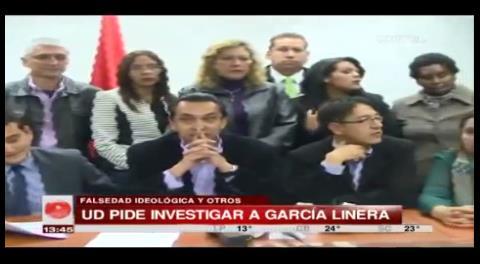 Acusan a García Linera por falsedad ideológica