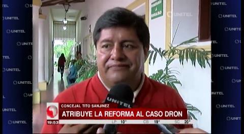 Concejal Sanjinez atribuye los cambios en la Alcaldía cruceña a una crisis de Gabinete