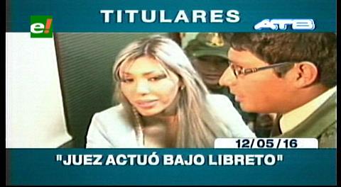 Titulares de TV: Zapata critica accionar de juez y dice que un medio internacional tiene la imagen de su hijo con Evo