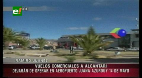Aasana: El sábado 14 de mayo, Sucre no tendrá vuelos comerciales