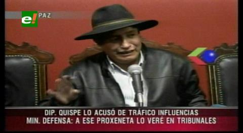 """Diputado Quispe señala que Ferreira es """"un desertor""""; el ministro lo califica de """"proxeneta"""" """""""