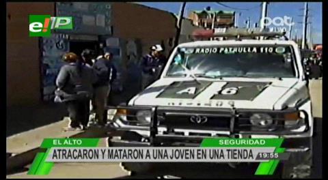 El Alto: Delincuentes estrangulan a una vendedora de oxígeno