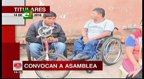 Titulares de TV: Discapacitados convocan a una Asamblea, analizarán nuevas medidas de presión