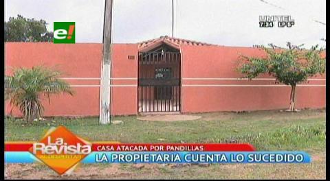 Pandilleros apedrean la casa de una familia