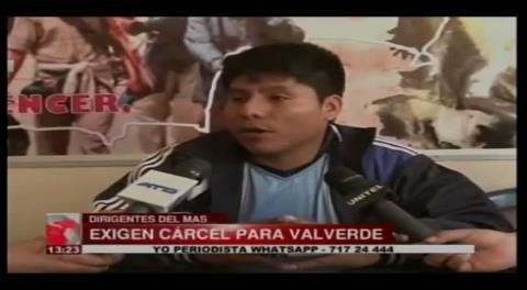 """Cocaleros exigen cárcel para Carlos Valverde por """"traicionar"""" al Estado"""